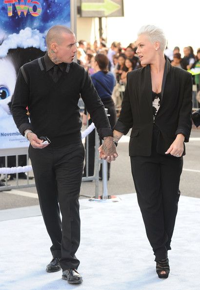 "Singer/Actress Alecia Moore aka Pink and Carey Hart attend the ""Happy Feet Two"" Los Angeles Premiere at Grauman's Chinese Theatre on November 13, 2011 in Hollywood, California"