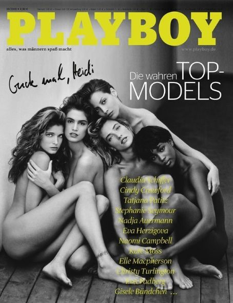 Stephanie Seymour, Cindy Crawford, Gisele Bündchen, Kate Moss, Naomi Campbell - Playboy Magazine Cover [Germany] (June 2009)