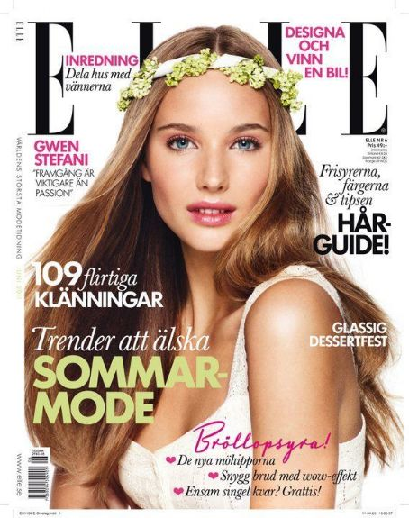 Elle Magazine Cover [Sweden] (June 2011)