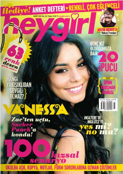Vanessa Hudgens - Hey Girl Magazine Cover [Turkey] (March 2011)