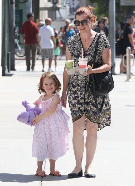 Alyson Hannigan and Daughter Satyana Hangout in Santa Monica