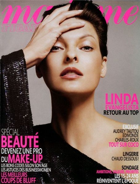 Linda Evangelista - Madame Figaro Magazine Cover [France] (April 2009)