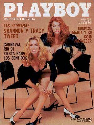 Shannon Tweed, Tracy Tweed - Playboy Magazine Cover [Mexico] (May 1991)