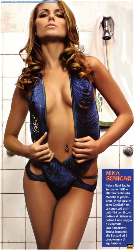 Nina Senicar  - Men Magazine Italy - July 2007