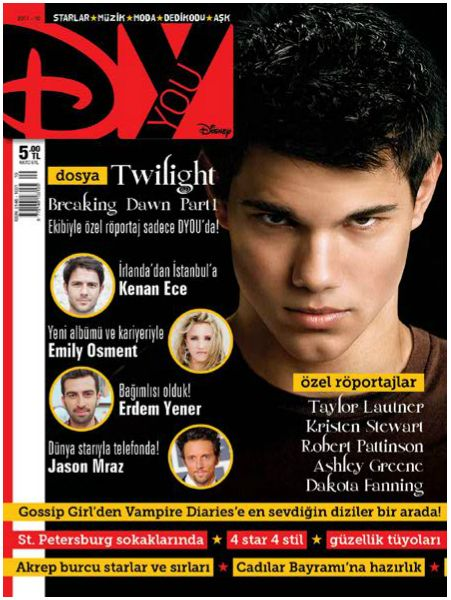 Taylor Lautner - Dyou Magazine Cover [Turkey] (3 November 2011)