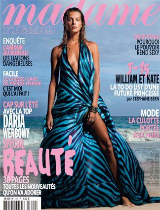 Daria Werbowy - Madame Figaro Magazine Cover [France] (14 April 2011)