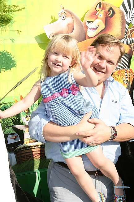 Andy Richter October 26, 2008 - Westwood, CA.  and daughter Mercy . DreamWorks' Presents The Los Angeles Premiere of MADAGASCAR: ESCAPE 2 AFRICA held at the Mann Village Theater. Photo by Alex Berliner©Berliner Studio/BEImages