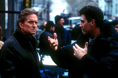 Don't Say a Word Michael Douglas and director Gary Fleder on the set of 20th Century Fox's Don't Say A Word - 2001