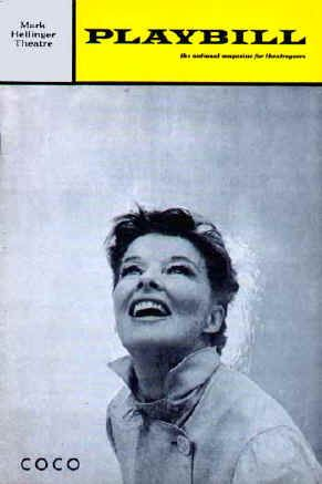 Coco Katharine Hepburn On The Cover Of Playbill In The Musical ''coco''