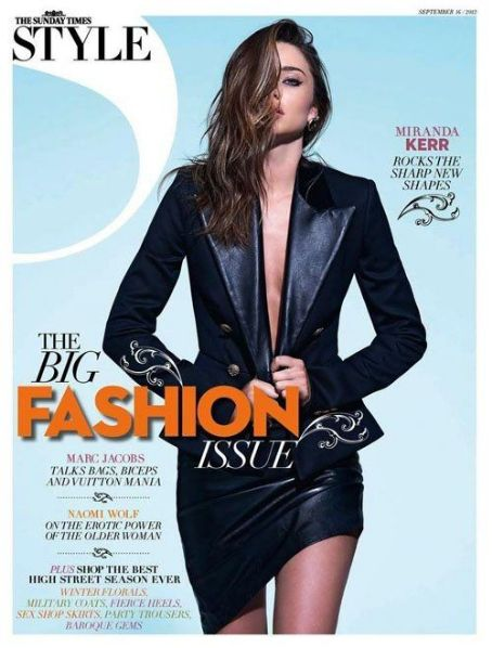 Miranda Kerr Covers The Sunday Times Style September 2012