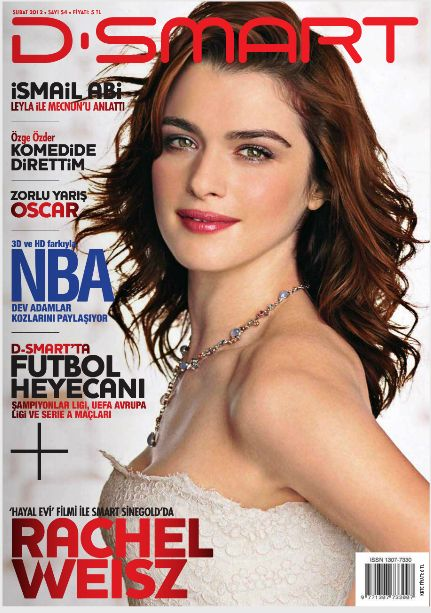 Rachel Weisz - D-Smart Magazine Cover [Turkey] (February 2012)