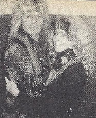 Vince Neil - Vince and Sharise Neil backstage at a Motley Crue's concert