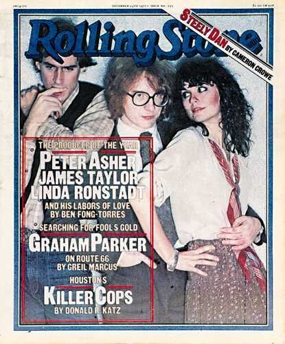 Peter Asher  on the cover of Rolling Stone Magazine
