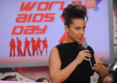 Alicia Keys - the 'World Aids Day' at BET Studios in NY, 01.12.2010