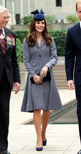 Kate Middleton attend the ANZAC Day Ceremony in Canberra dur