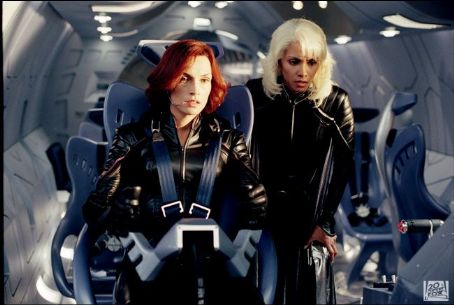 Storm Famke Janssen as Jean Grey and Halle Berry as  in 20th Century Fox's X2: X-Men United - 2003