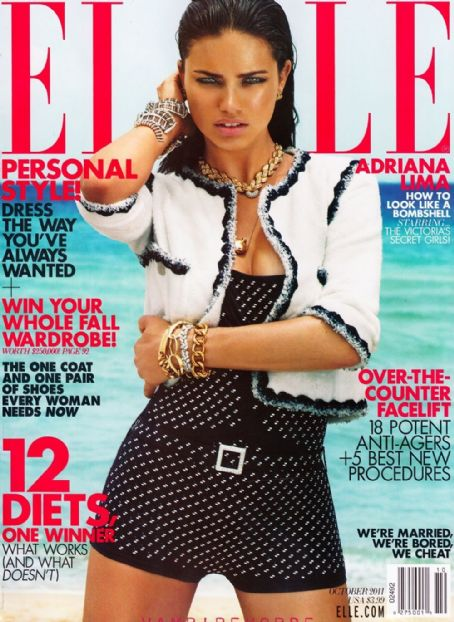 Adriana Lima - Elle Magazine Cover [United States] (2 October 2011)