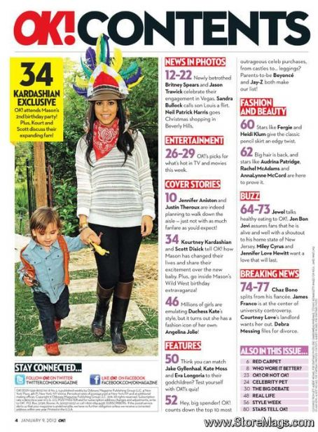 Kourtney Kardashian - OK! Magazine Pictorial [United States] (9 January 2012)