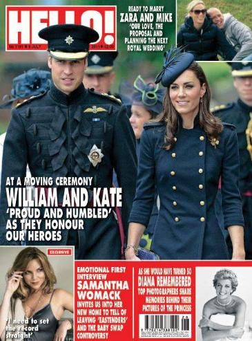 Kate Middleton, Prince William Windsor - Hello! Magazine Cover [United Kingdom] (4 July 2011)