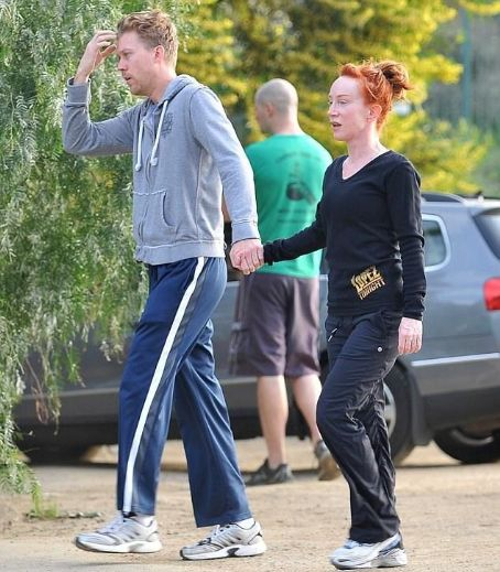 Bare faced Kathy Griffin works up a sweat with toyboy Randy Bick on sunshine hike