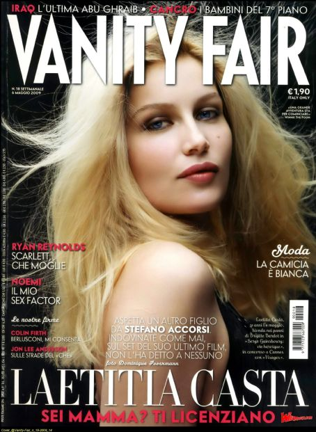 Laetitia Casta - Vanity Fair Magazine Cover [Italy] (6 May 2009)