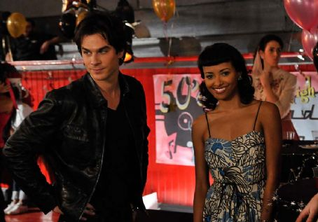 Damon Salvatore Ian Somerhalder As  And Katerina Graham As Bonnie Bennett In The Vampire Diaries