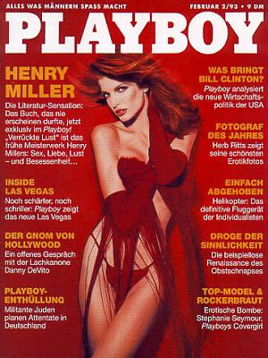 Stephanie Seymour - Playboy Magazine Cover [Germany] (February 1993)