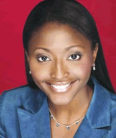 Isha Sesay  Casual In Denim Jacket