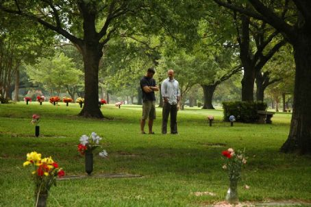 Adam Neal Smith Jeff and Andrea in Cemetery. Photo by: M. Proksell