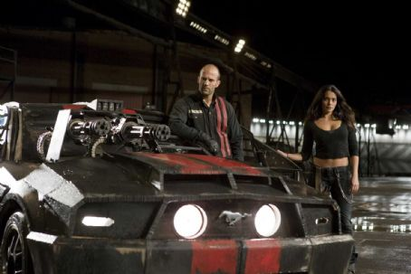 Natalie Martinez Jason Statham as Jensen and  as Case in Death Race.