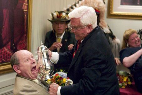 Leslie Nielsen  (right) in Dimension's Scary Movie 3 - 2003