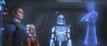 Ashley Eckstein Anakin Skywalker, his Padawan learner Ahsoka and a Clone Trooper communicate with Obi -Wan Kenobi in a scene from 'Star Wars: The Clone Wars,' which makes its theatrical debut through Warner Bros. Pictures on Aug. 15, 'Star Wars: The Clone War