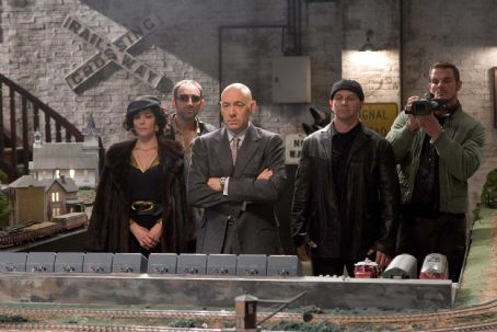 Lex Luthor (Left to Right) Parker Posey as Kitty Kowalski, Vincent Stone as Grant, Kevin Spacey as , David Fabrizio as Brutus and Ian Roberts as Riley in Warner Bros. Superman Returns - 2006