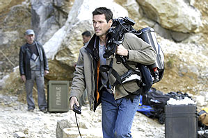 Eddie Cibrian as Tyler in horror movie The Cave distributed by Screen Gems.