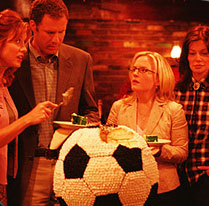 Laura Kightlinger Barbara and Phil Weston (Kate Walsh and Will Ferrell) talk strategy with the other Tiger parents (Rachel Harris, ) - Kicking and Screaming 2005