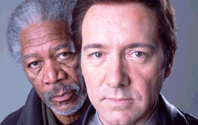 Morgan Freeman (Ashford) and Kevin Spacey (Detective Wallace) in Nu Image/Millennium Films' drama Edison - 2006
