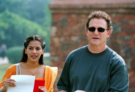 Albert Brooks Sheetal Sheth and ' behind the scenes of writer/director Brooks' Looking for Comedy in the Muslim World, a Warner Independent Pictures release. Photo credit: Lacey Terrell © 2005 Shangri-La Entertainment, LLC.