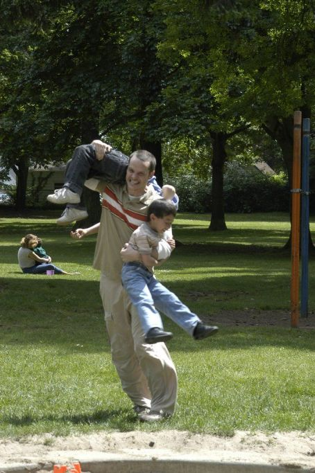 Peter Paige Paul () and friends playing in the park in SAY UNCLE