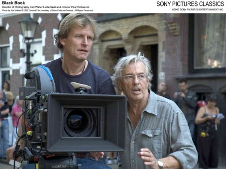 Black Book Director of Photography Karl Walter Lindenlaub and Director Paul Verhoeven. Photo by Karl Walter © 2006 Content Film, courtesy of Sony Pictures Classics. All Rights Reserved.