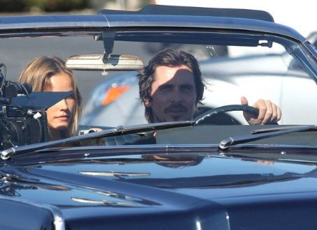 "Christian Bale and Isabel Lucas film for their upcoming movie ""Knight of Cups"" in Marina Del Rey , California on June 29th, 2012"