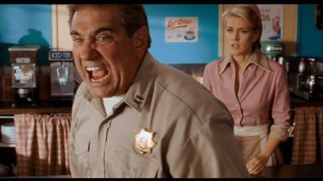 Dan Lauria Jenni-Dan in Diner:  as Officer Dawson and Jenni Baird as Tammy in ALIEN TRESPASS, directed by R.W. Goodwin. Courtesy of Roadside Attractions