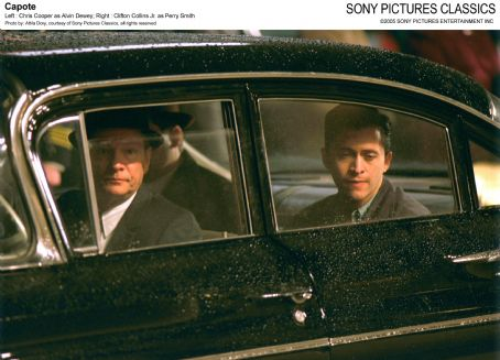 Perry Smith Left: Chris Cooper as Alvin Dewey; Right: Clifton Collins Jr. as ; Photo by: Attila Dory, courtesy of Sony Pictures Classics, all rights reserved.