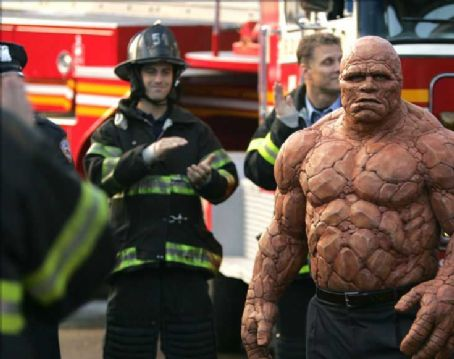 Michael Chiklis a scene from 20th Century Fox' fantasy, Fantastic Four, starring  and directed by Tim Story.