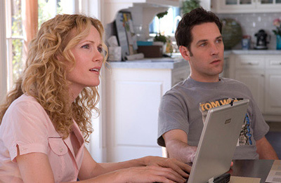 Knocked Up Leslie Mann as Debbie and Paul Rudd as Pete in Universal Pictures'  - 2007