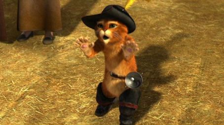 Puss in Boots  (voiced by Antonio Banderas) in Shrek the Third - 2007