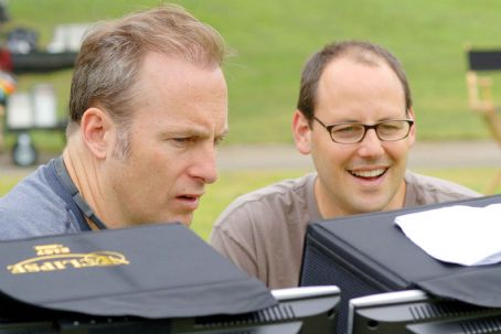 Bob Odenkirk Director  (left) with producer Matt Berenson on the set of Revolution Studios' comedy THE BROTHERS SOLOMON, a TriStar Pictures release. Photo Credit: Merrick Morton