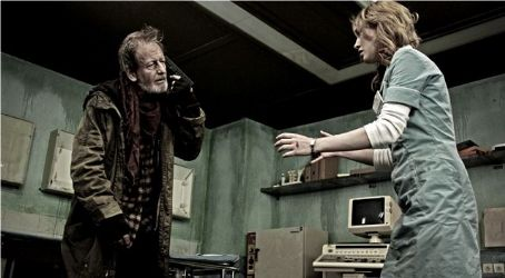 Dominique McElligott Ronald Pickup as Tobias and  as Emily in the scene of Dark Floors.