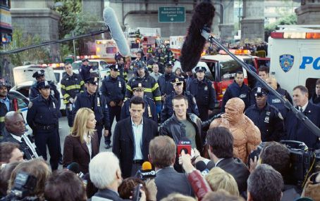 Michael Chiklis JESSICA ALBA, IOAN GRUFFUDD, CHRIS EVANS and MICHAEL CHIKLIS in 20th Century Fox' fantasy 'Fantastic Four'.
