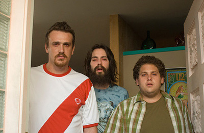 Martin Starr L to R: Jason Segel as Jason,  as Martin and Jonah Hill as Jonah in comedy romances' Knocked Up - 2007