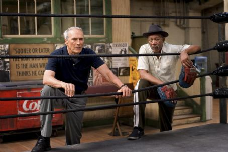 Maggie Fitzgerald Clint Eastwood as Frankie and Morgan Freeman as Scrap in Warner Bros. Pictures' drama Million Dollar Baby. The Malpaso production also stars Hilary Swank. Merie W. Wallace